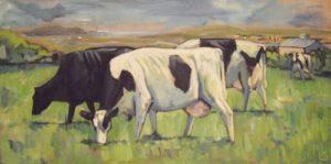 Erw Fawr Farm, Llanfachraeth - Acrylic On Canvas