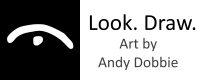 look draw art by andy dobbie logo