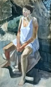Seated Figure in a Garden